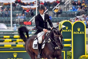 Clifton Promise and Jonathan Paget at WEG in the showjumping